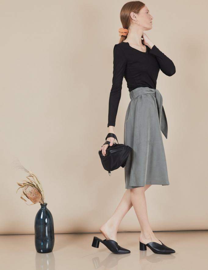 Alef Alef   אלף אלף - בגדי מעצבים   חצאית Florence זית
