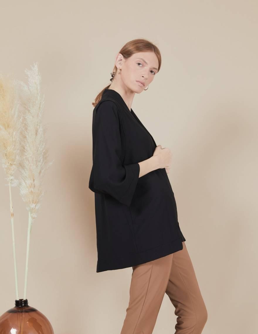 Alef Alef | אלף אלף - בגדי מעצבים | קימונו Valentina שחור
