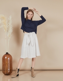 Alef Alef | אלף אלף - בגדי מעצבים | חצאית Florence פסים בז'