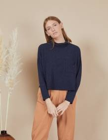 Alef Alef | אלף אלף - בגדי מעצבים | חולצת Mae | נייבי