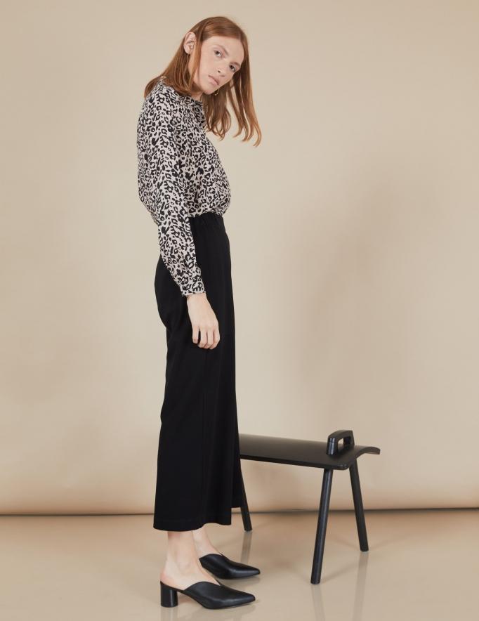 Alef Alef | אלף אלף - בגדי מעצבים | מכנסי Willie שחור