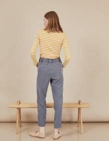 Alef Alef | אלף אלף - בגדי מעצבים | מכנסי Curie אפור כהה