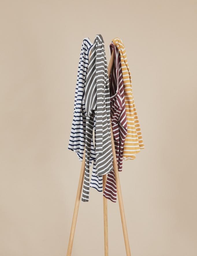Alef Alef | אלף אלף - בגדי מעצבים | חולצת Tamar | פסים ירוק