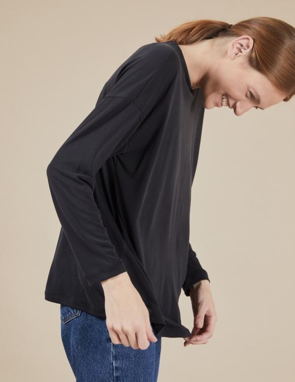 Alef Alef | אלף אלף - בגדי מעצבים | חולצת Ada | שחור