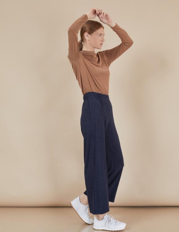 Alef Alef | אלף אלף - בגדי מעצבים | מכנסי Willie נייבי
