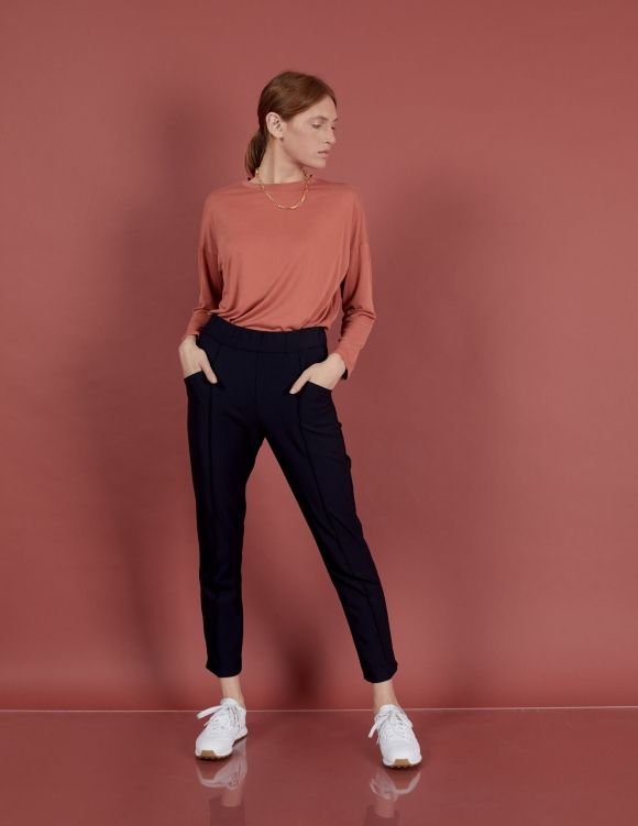 Alef Alef | אלף אלף - בגדי מעצבים | מכנסי Coco | נייבי