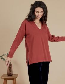 Alef Alef   אלף אלף - בגדי מעצבים   חולצת Angela בורדו