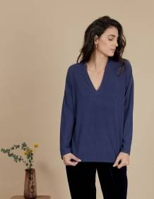 Alef Alef | אלף אלף - בגדי מעצבים | חולצת Angela נייבי