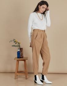 Alef Alef | אלף אלף - בגדי מעצבים | מכנסי Curie מוקה