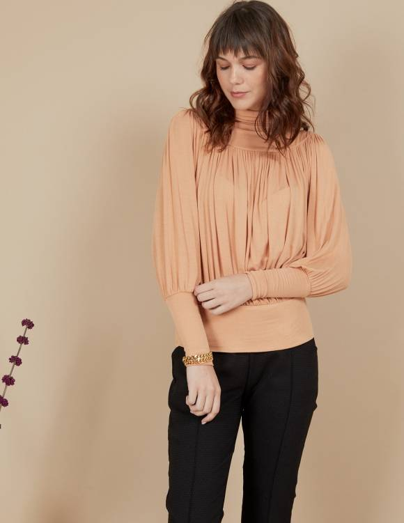 Alef Alef | אלף אלף - בגדי מעצבים | חולצת Amelia משמש