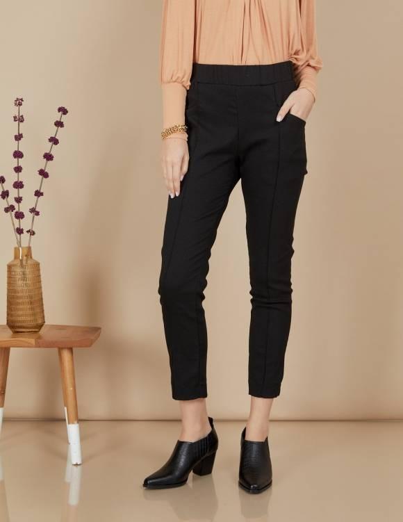 Alef Alef | אלף אלף - בגדי מעצבים | מכנסי Coco | שחור טקסטורה