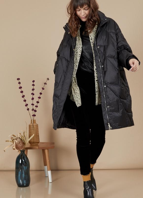 Alef Alef | אלף אלף - בגדי מעצבים | מעיל Elizabeth שחור