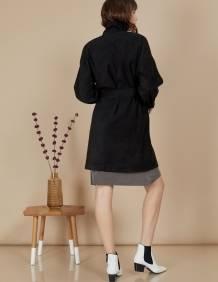 Alef Alef   אלף אלף - בגדי מעצבים   מעיל Nellie שחור