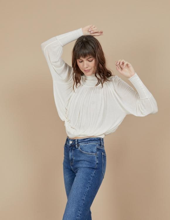 Alef Alef | אלף אלף - בגדי מעצבים | חולצת Amelia לבן