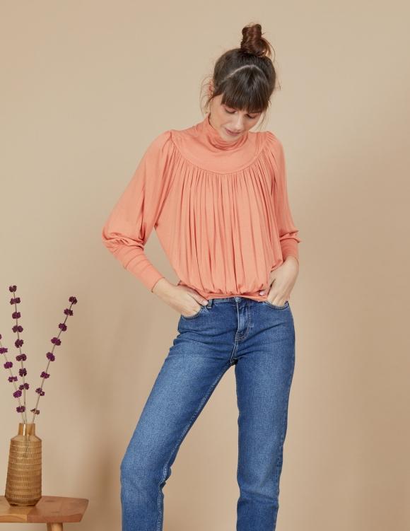 Alef Alef | אלף אלף - בגדי מעצבים | חולצת Amelia סלמון
