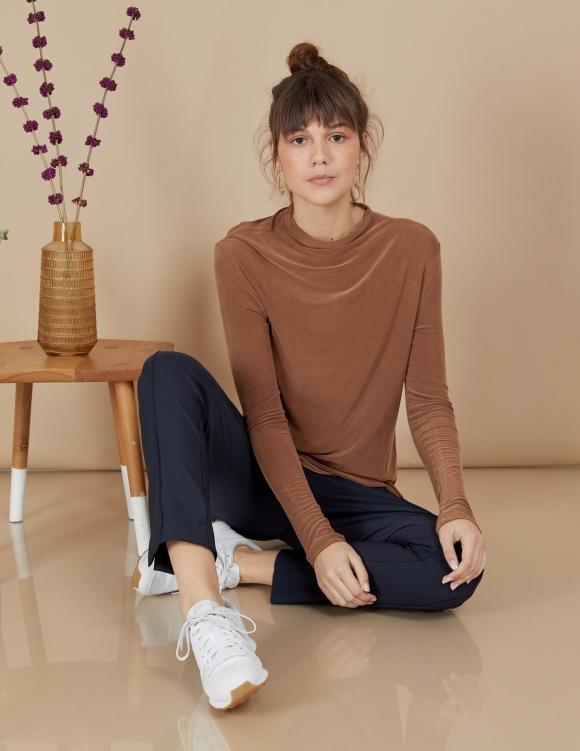 Alef Alef | אלף אלף - בגדי מעצבים | חולצת Susan | קאמל