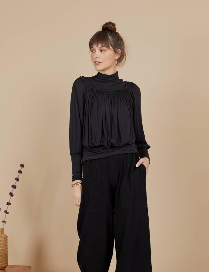 Alef Alef | אלף אלף - בגדי מעצבים | חולצת Amelia שחור