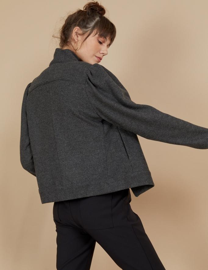 Alef Alef | אלף אלף - בגדי מעצבים | ז'קט Serena אפור כהה