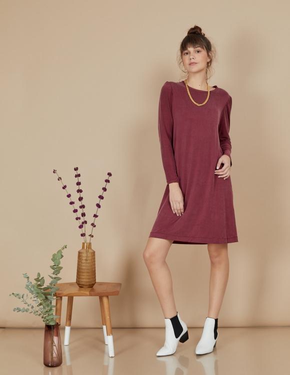 Alef Alef | אלף אלף - בגדי מעצבים | שמלת Josephine בורדו
