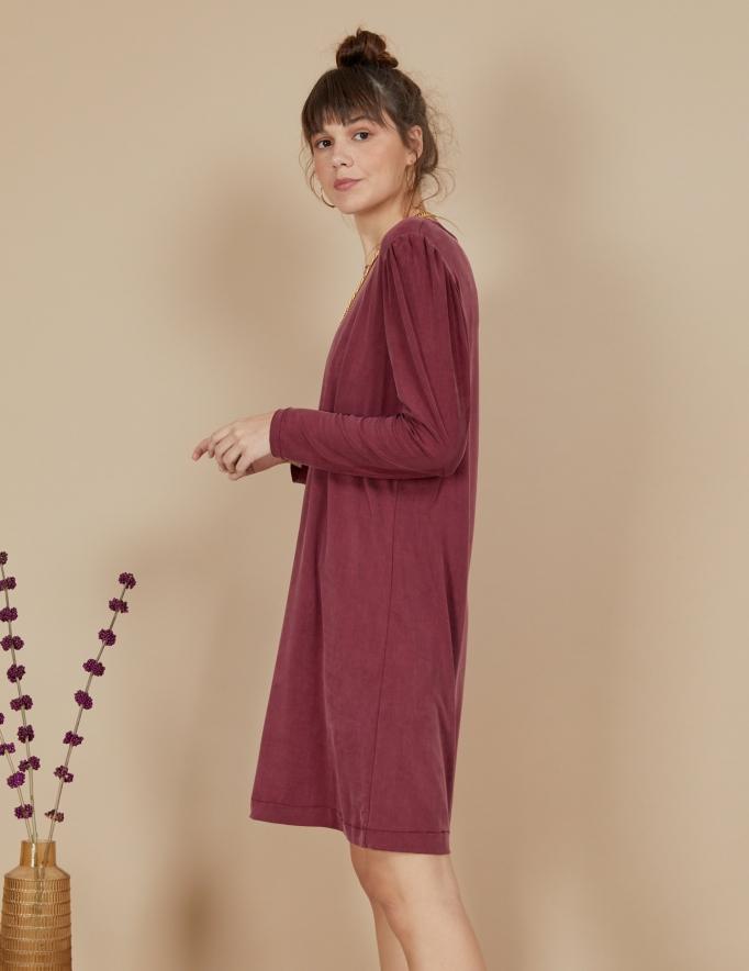 Alef Alef   אלף אלף - בגדי מעצבים   שמלת Josephine בורדו