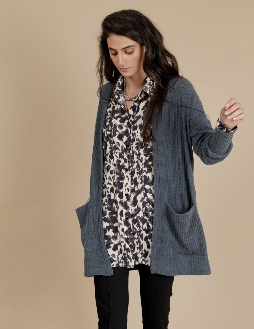 Alef Alef | אלף אלף - בגדי מעצבים | עליונית Bessie | אפור
