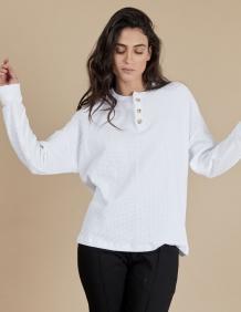 Alef Alef | אלף אלף - בגדי מעצבים | חולצת Greta לבן