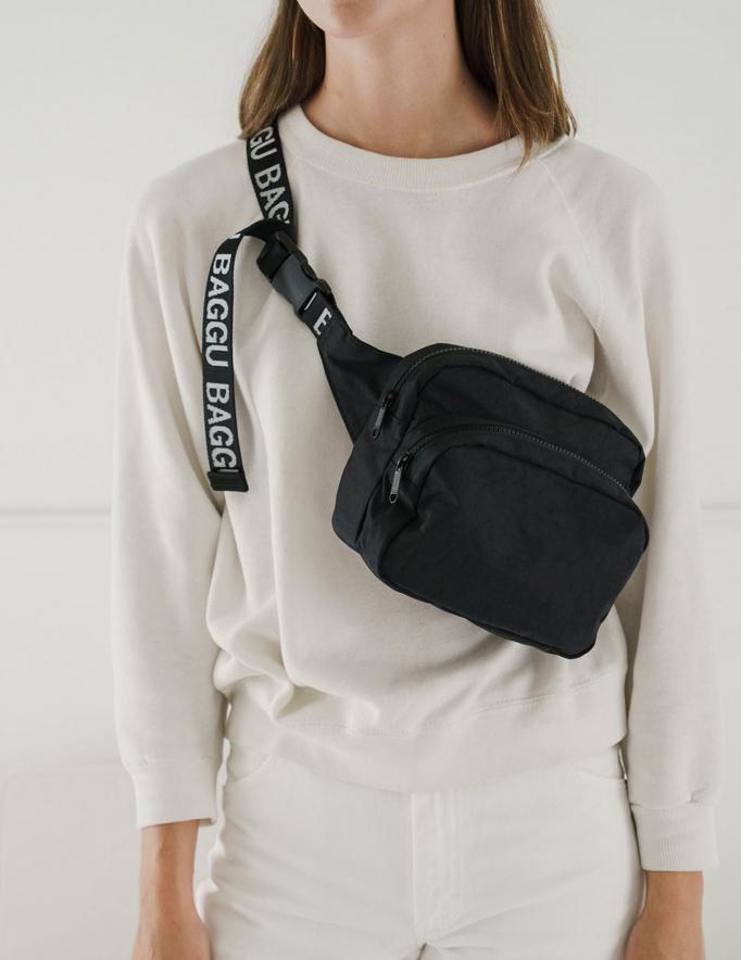 Alef Alef | אלף אלף - בגדי מעצבים | פאוץ' Fanny Pack // Baggu שחור