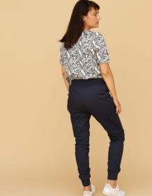 Alef Alef | אלף אלף - בגדי מעצבים | מכנסי Dayan נייבי