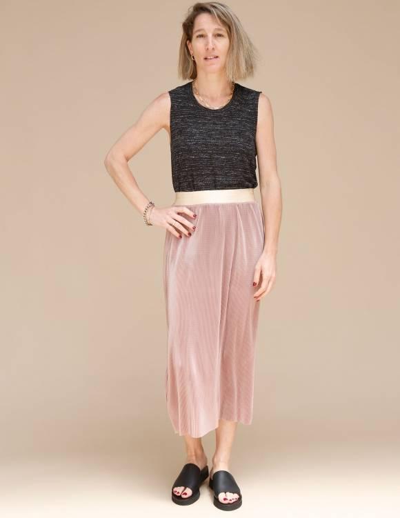 Alef Alef   אלף אלף - בגדי מעצבים   חצאית Rosen פודרה