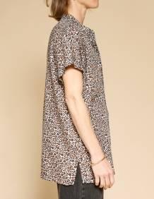 Alef Alef | אלף אלף - בגדי מעצבים | חולצת Mann מנומר/חום