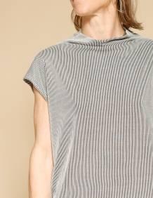 Alef Alef | אלף אלף - בגדי מעצבים | חולצת Eini פסים שחור/בז'