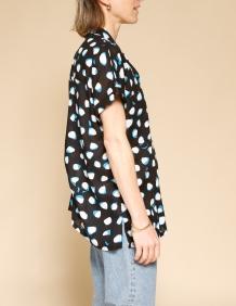 Alef Alef | אלף אלף - בגדי מעצבים | חולצת Mann דפוס שחור כחול