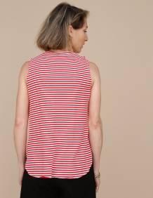 Alef Alef   אלף אלף - בגדי מעצבים   גופית LEVY פסים אדום לבן