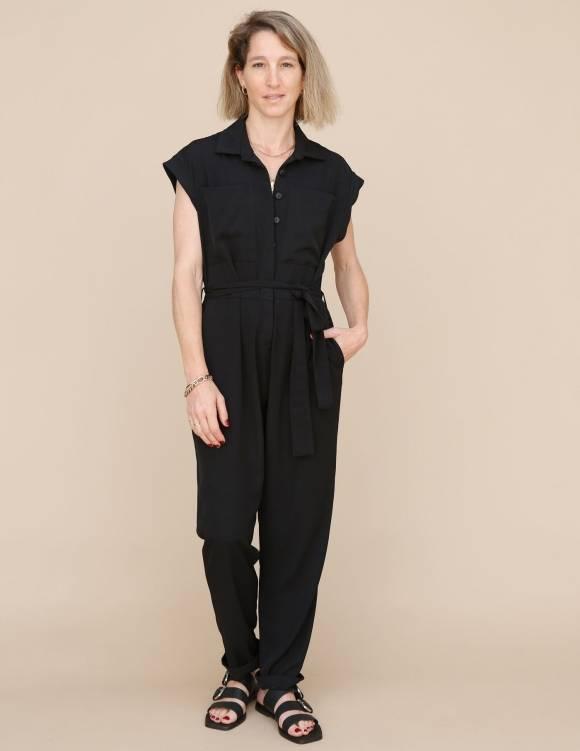 Alef Alef | אלף אלף - בגדי מעצבים | אוברול Shalev שחור
