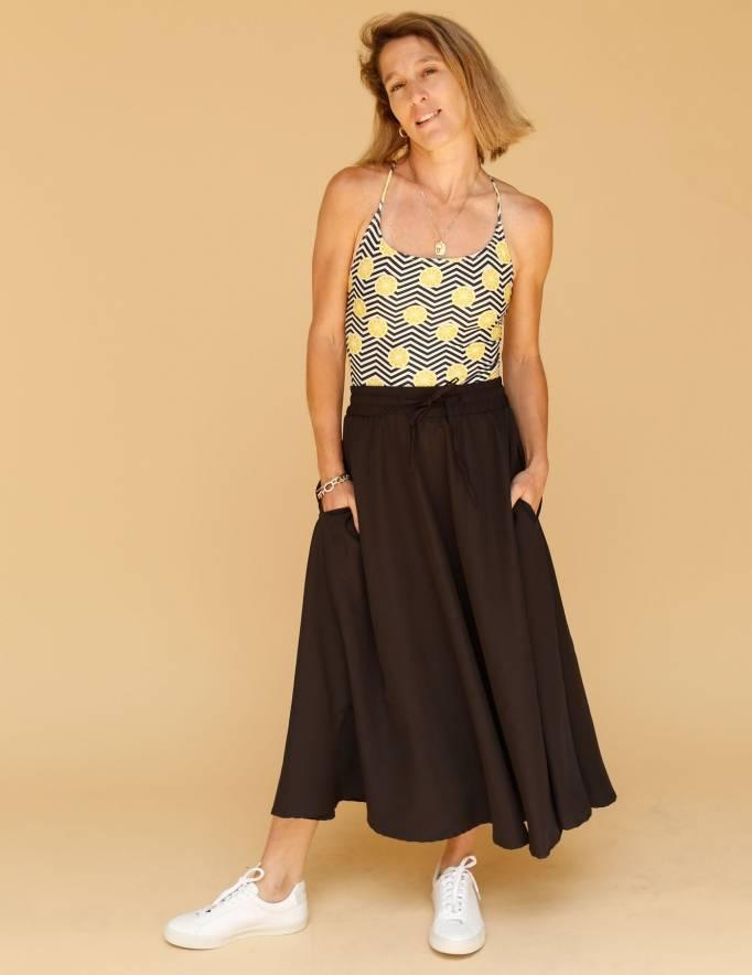 Alef Alef | אלף אלף - בגדי מעצבים | חצאית ATIAS שחור