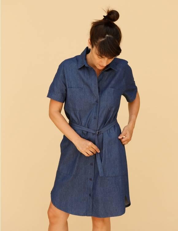 Alef Alef   אלף אלף - בגדי מעצבים   שמלת Damari ג'ינס